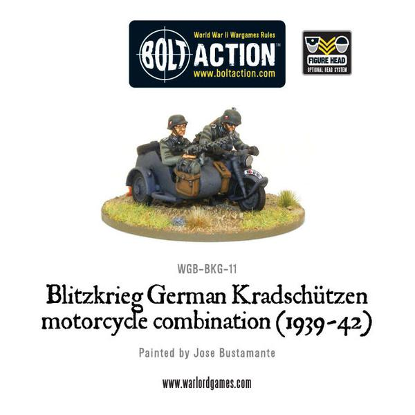 Blitzkrieg German Kradschützen Motorcycle Combination (1939-1942)