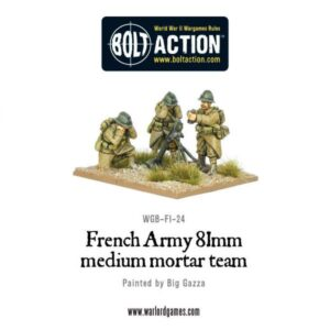 French Army 81mm medium mortar team