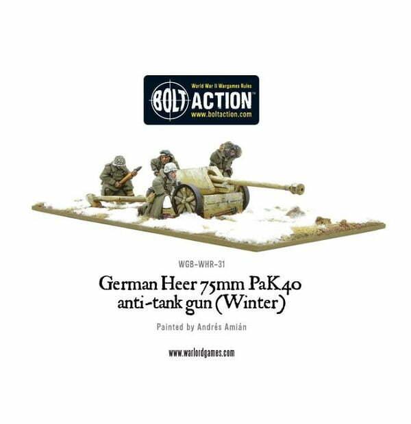 German 50 Mm Anti Tank Gun: German Heer 75mm Pak 40 Anti-Tank Gun (Winter