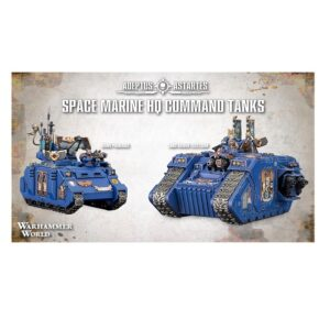 Warhammer World Exclusive Space Marine HQ Command Tanks