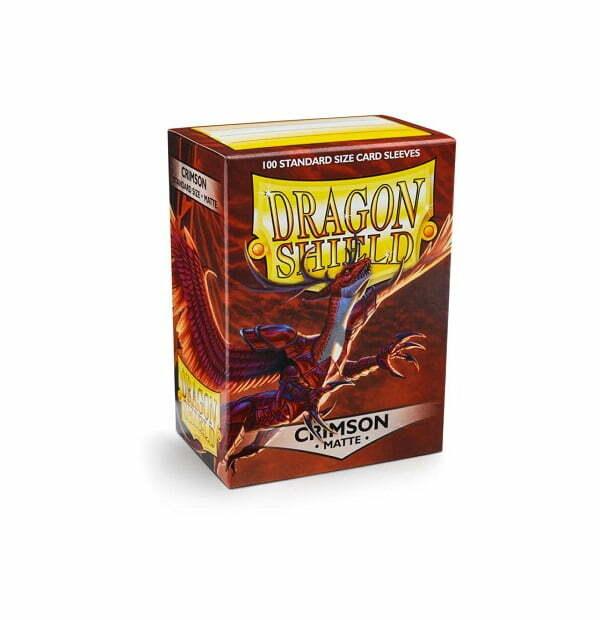 Dragon Shield Sleeves Matte Crimson 100