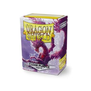 Dragon Shield Matte Sleeves Clear Purple 100