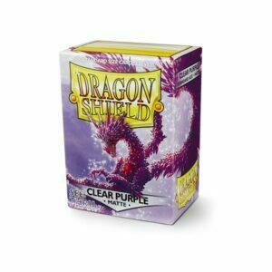 Dragon Shield Matte Sleeves Clear Purple 100