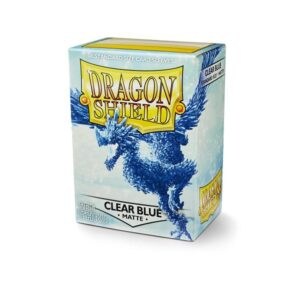 Dragon Shield Matte Sleeves Clear Blue 100