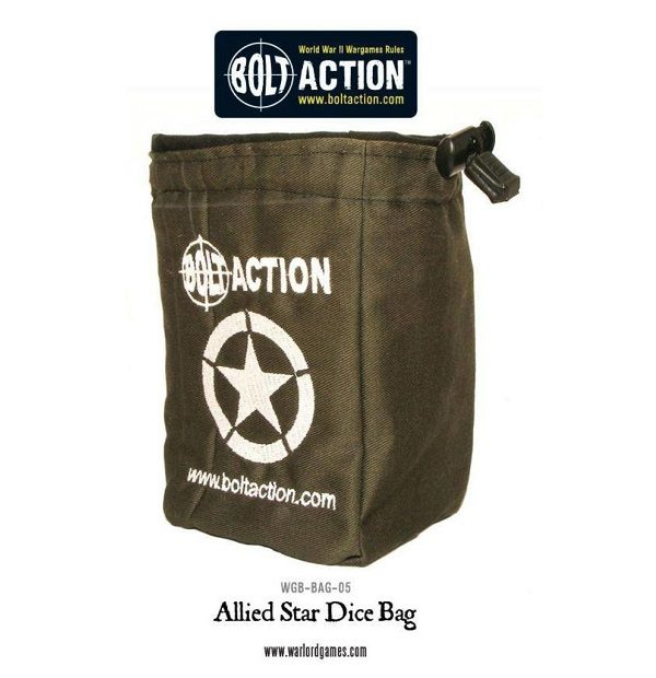 Bolt Action Allied Star Dice Bag and Order Dice