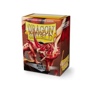 Dragon Shield Matte Sleeves Ruby 100