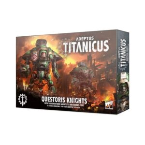 Adeptus Titanicus: Questoris Knights with Thunderstrike Gauntles and Rocket Pods
